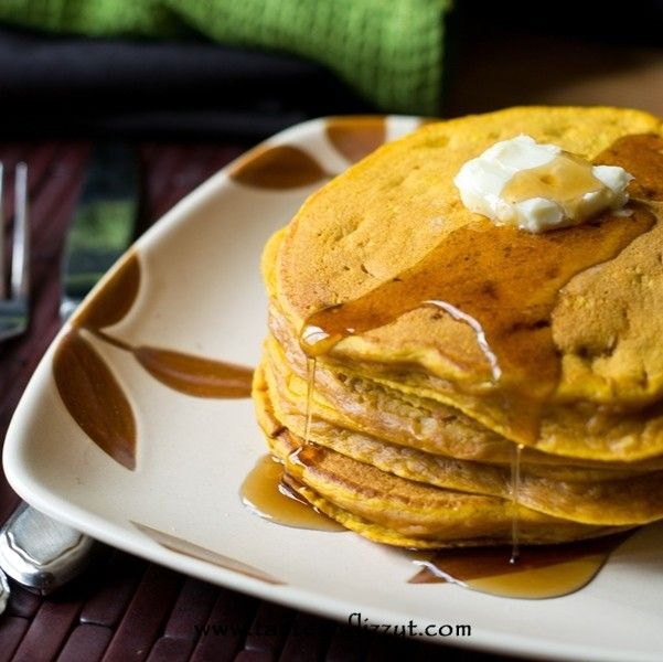 These Pumpkin Creole Pancakes are a protein packed hearty breakfast. You'll fall in love with the pumpkin flavor of this comforting breakfast!