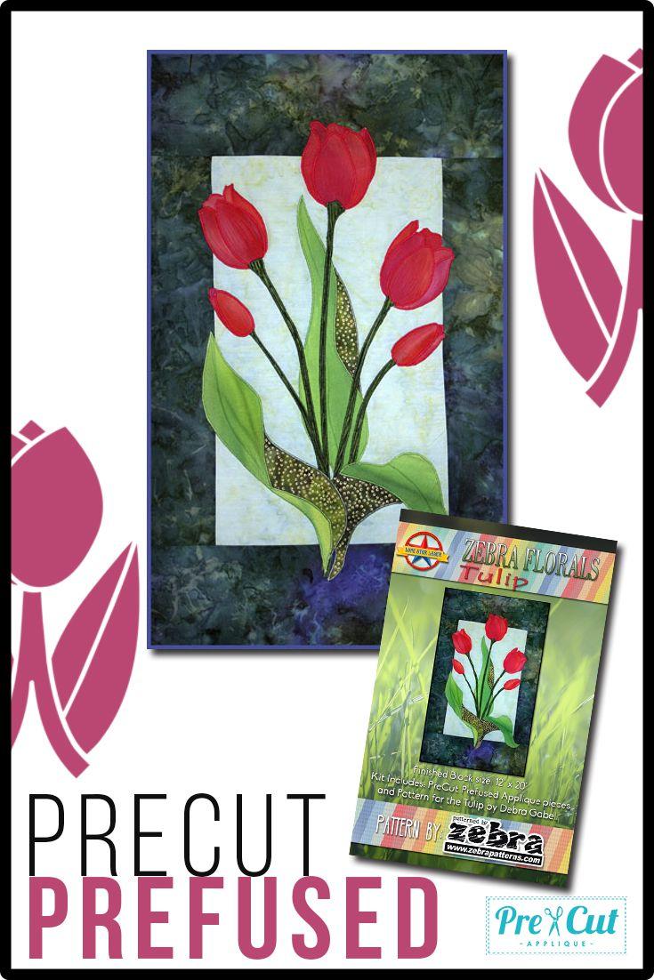 Tulip By Debra Gabel Of Zebra Patterns In A Precut Prefused