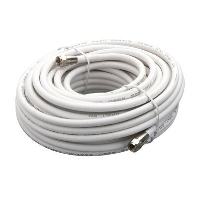 Zenith 50-ft White 18-AWG RG6 Coaxial Cable | Cable