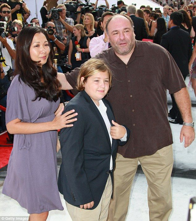 James Gandolfini with his son and second wife Deborah Lin at a film premiere in 2011 PICTURE: Getty Images