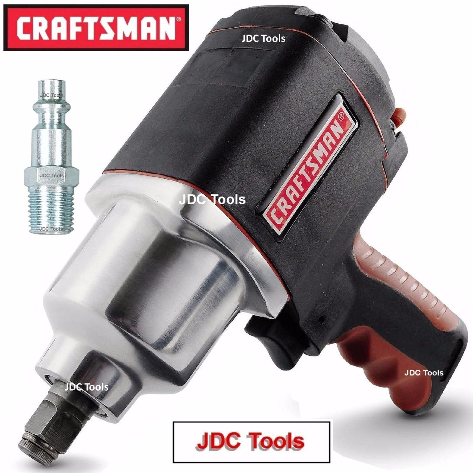 Craftsman 1 2 Drive Air Impact Wrench W 3 8 Adapter 2 Tools In 1 Mechanic Tools Impact Wrench Air Tools