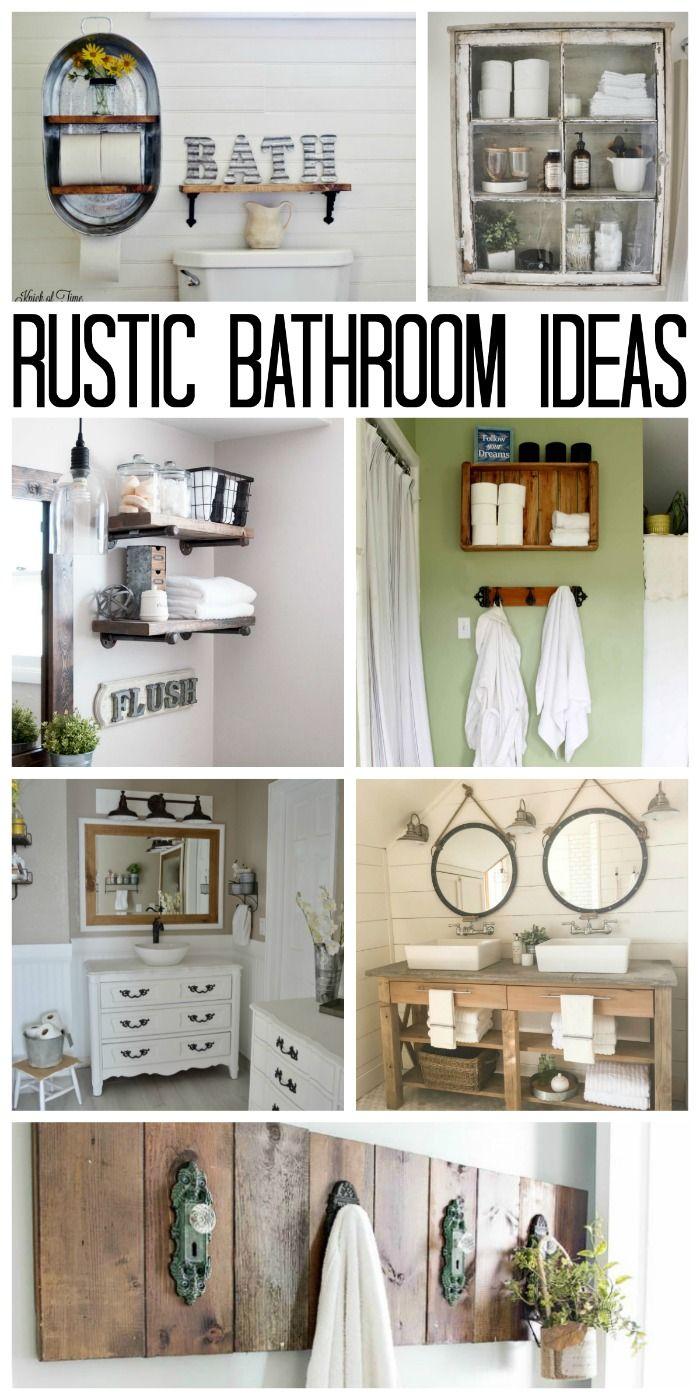 Rustic Bathroom Ideas for Your Home   Farmhouse Faves   Pinterest ...