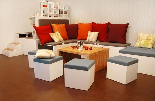 Love this modular furniture set. Seating, dining, entertaining, and sleeping wrapped into one set. Fantastic!