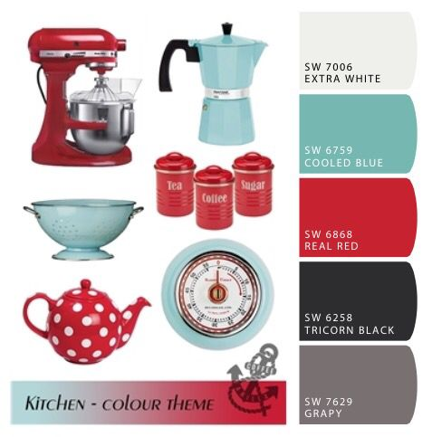 Best Sherwin Williams Color Scheme For My Kitchen Red Teal 640 x 480