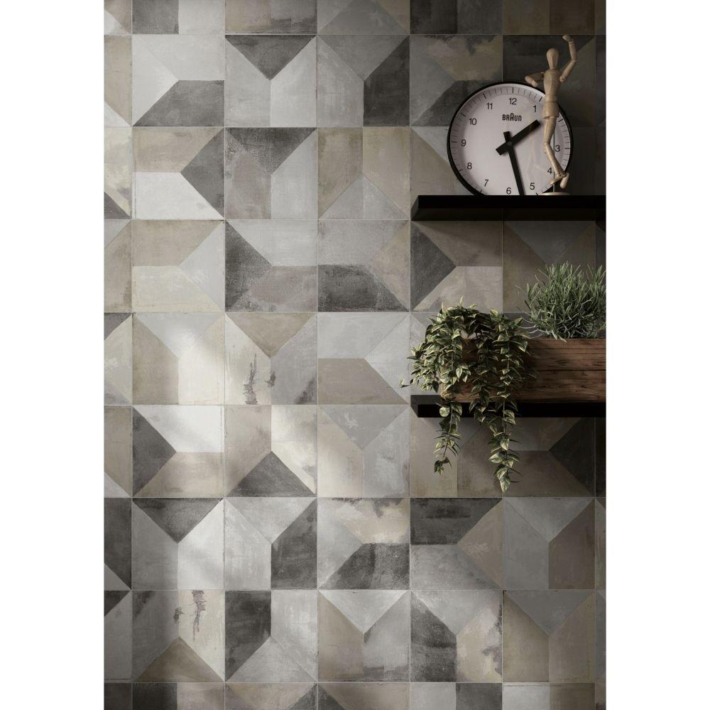 dcor mural carrelage effet rsine 30x30 soft rectifi collection synchro century - Matchstick Tile Castle 2016