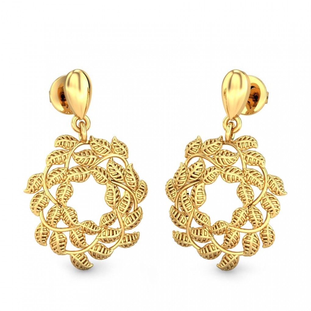 3f8afe7c7 Nature's Pride Gold Earrings Online Jewellery Shopping India | Yellow Gold  22K | Candere.com - A Kalyan Jewellers Company