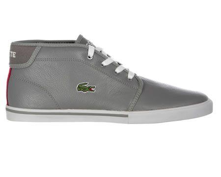 Lacoste Ampthill Grey Leather Chukka