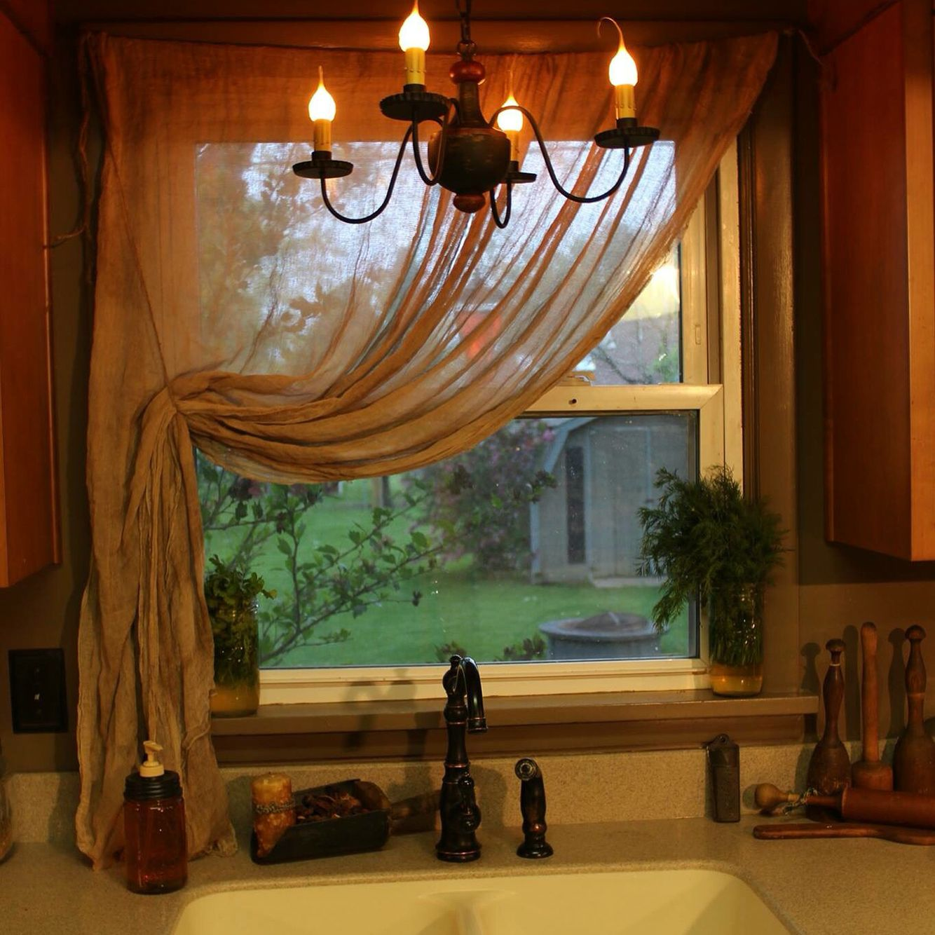 Primitive CurtainsOh I Love My Home Made Cheese Cloth Curtains