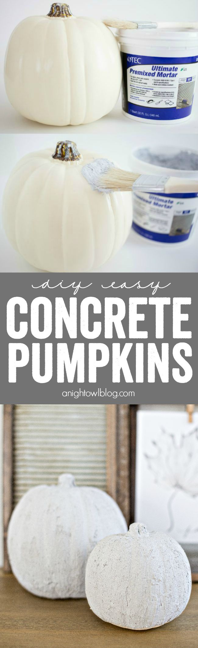 diy easy concrete pumpkins fall decor concrete and craft create diy easy concrete pumpkins at home in just minutes