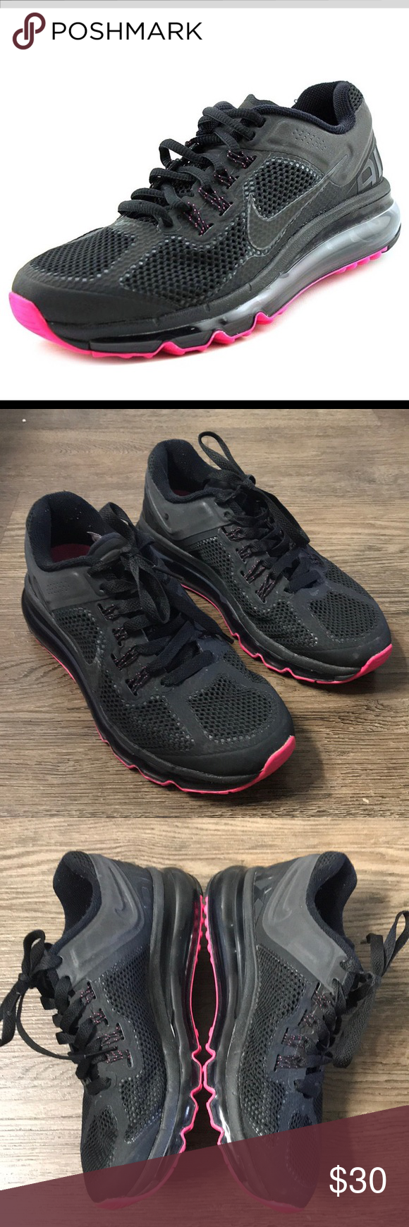 cheap for discount d6228 de590 Nike Air Max Waffle Skin 2013 Black Pink Size 6.5 Nike Women s Air Max  Waffle Skin Size 6.5 Color Black Pink Pre Owned. Good Condition. Nike Shoes  Sneakers