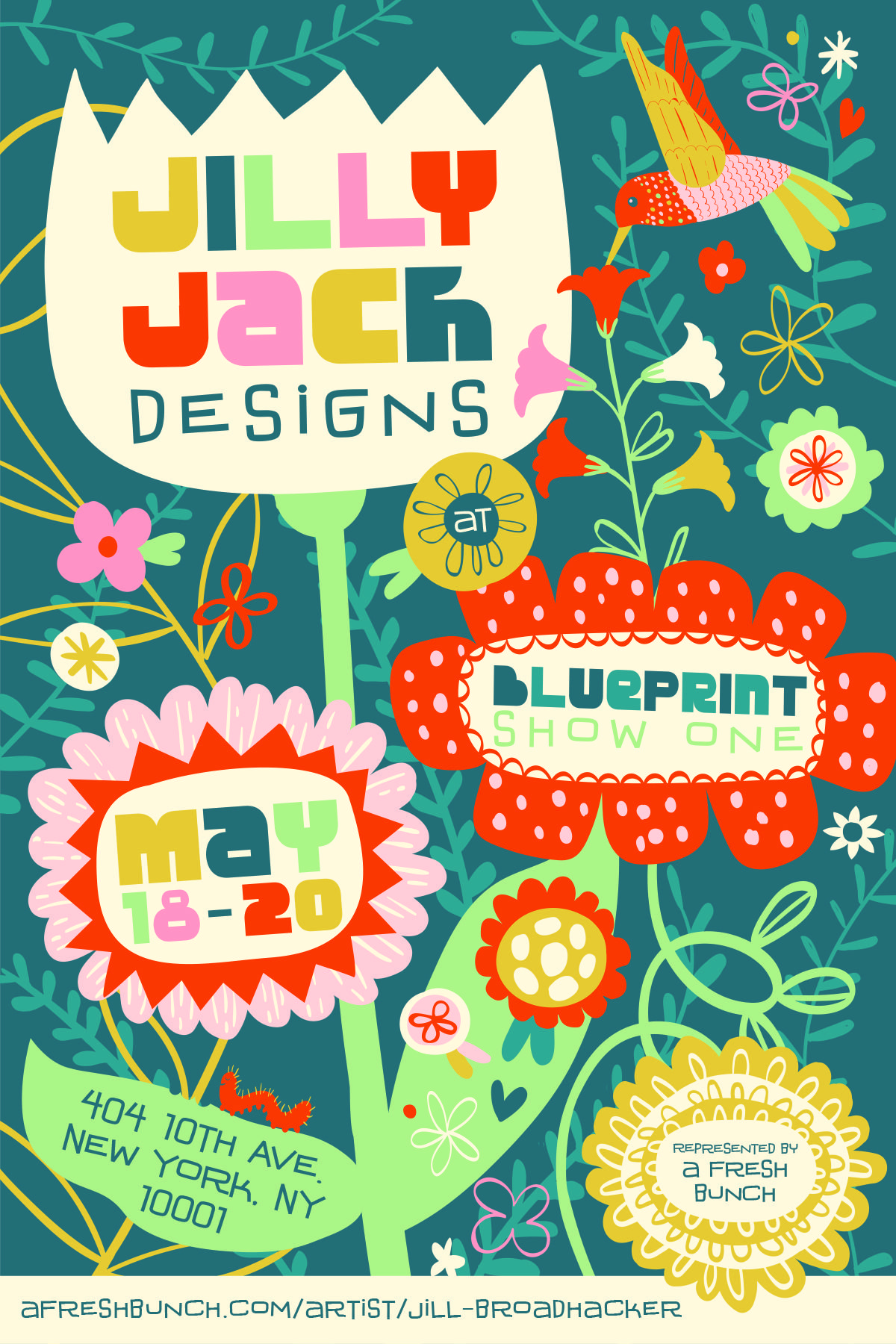Whimsical floral illustration by jill broadhacker of jilly jack whimsical floral illustration by jill broadhacker of jilly jack designs represented by a fresh bunch promo malvernweather Gallery