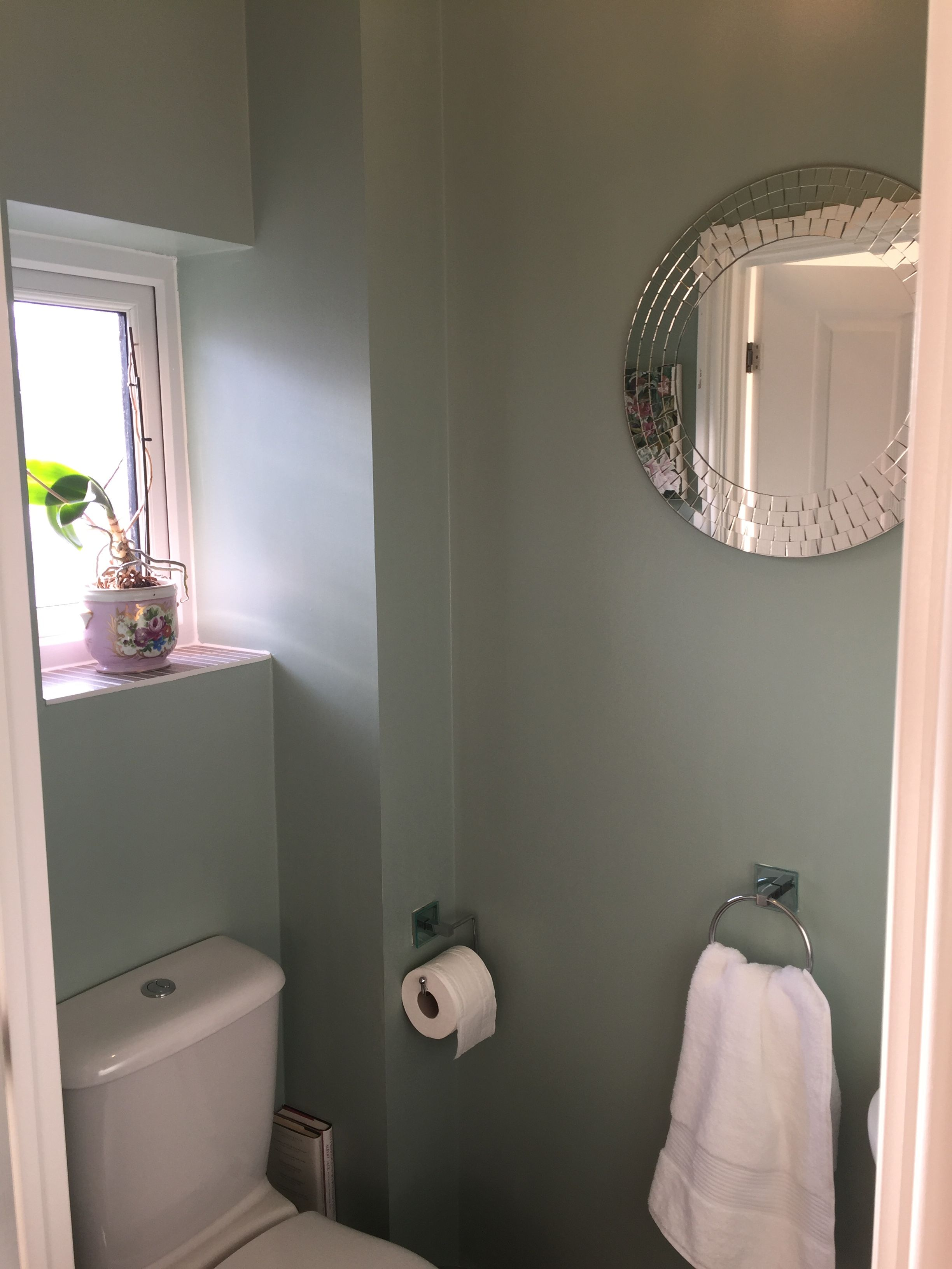 Farrow And Ball Blue Green Cloakroom Bathroom Toilet Bold Colour Duck Egg Green Bathroom Decor Bathroom Design Decor Green Bathroom