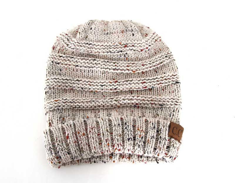 C.C. Beanie Cable Knit Beanie in Confetti Oatmeal HAT-200-OATMEAL ... 8f2e42e4f7f