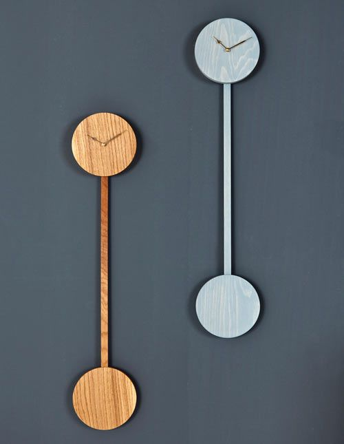 Modern Pendulum Clock Zwilling By Christian Kim