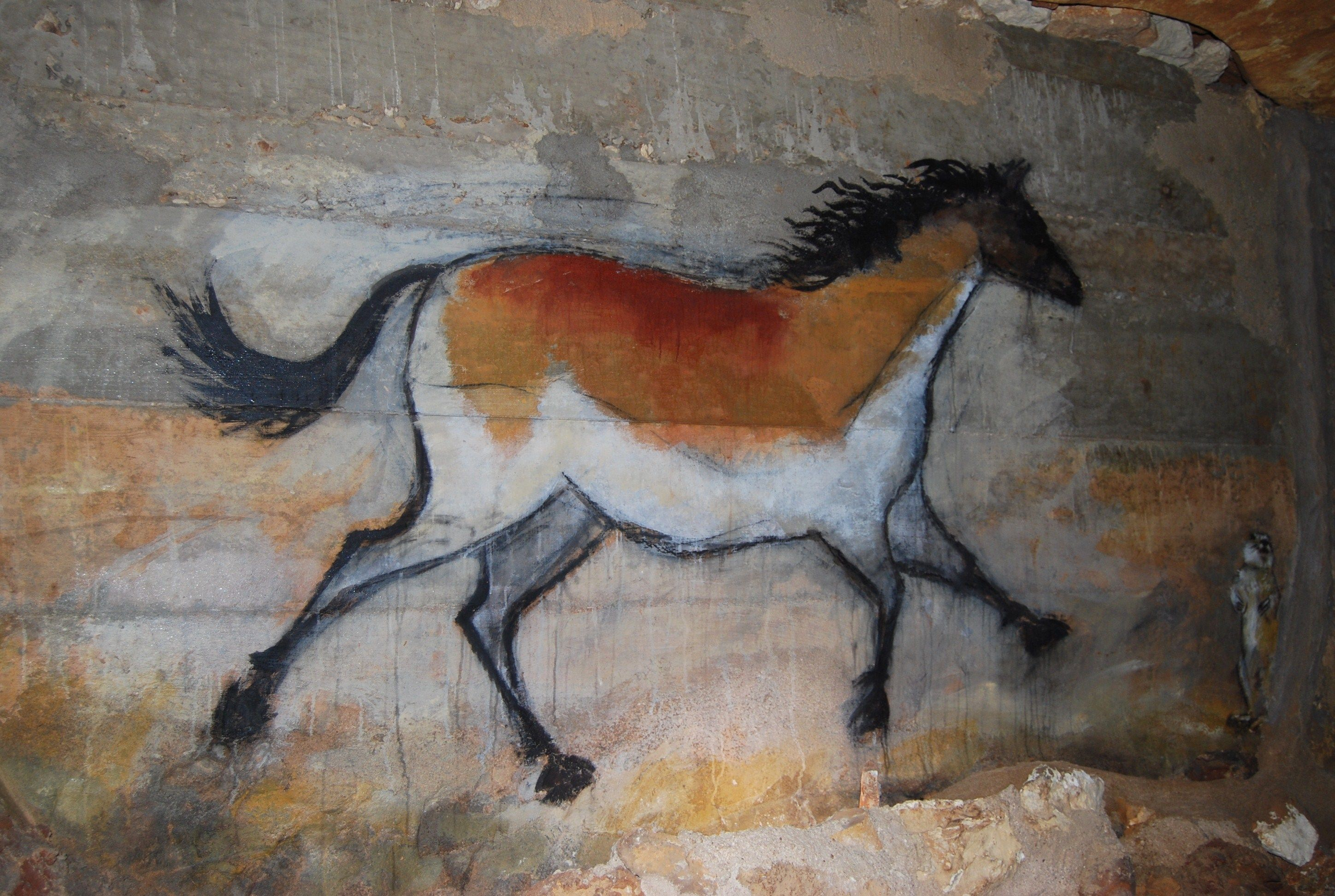 Cave Painting Prehistoric Art Unicorn Tribal Horse Canvas Print