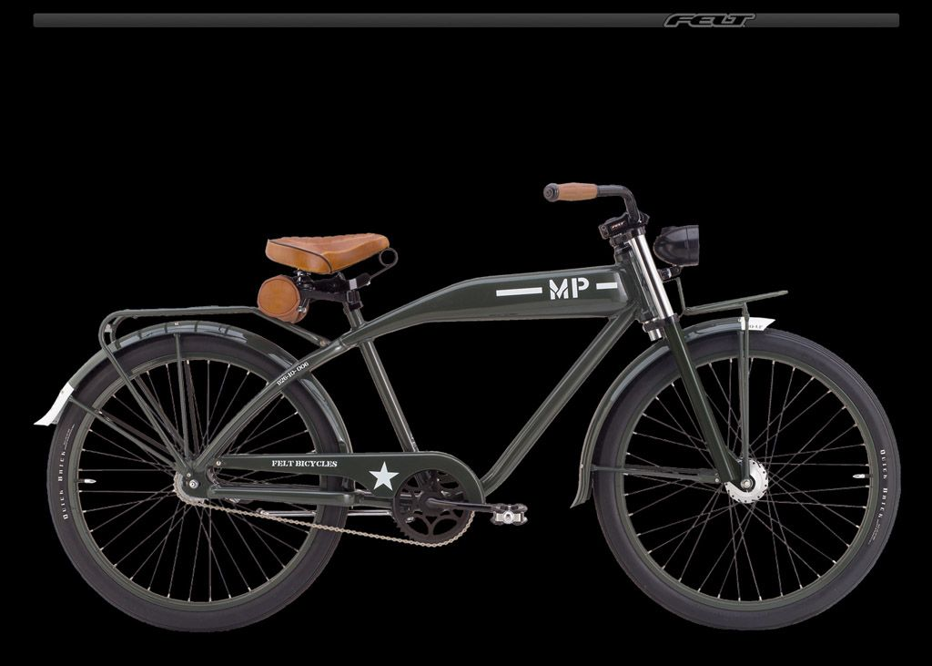 eba0d024136 A Felt Cruiser bicycle with MP-Army paint. | hobbies | Cruiser ...