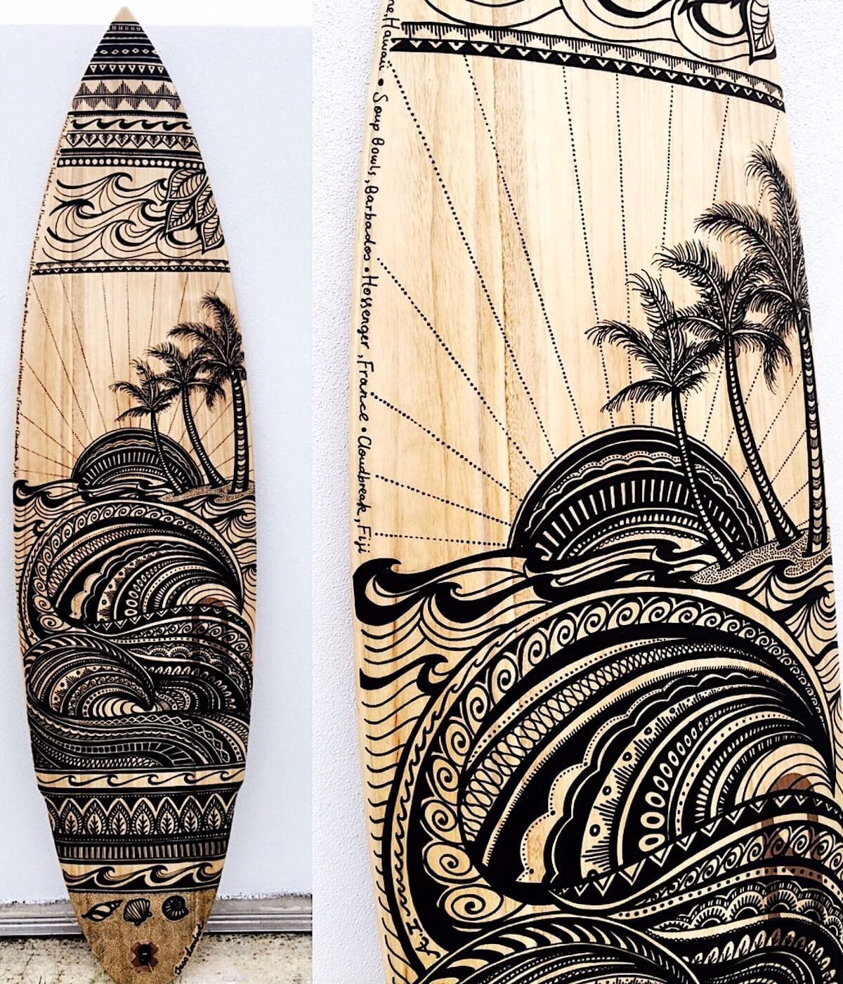 Surfboard Art Surfboard Art Surfboard Painting Surfboard Design