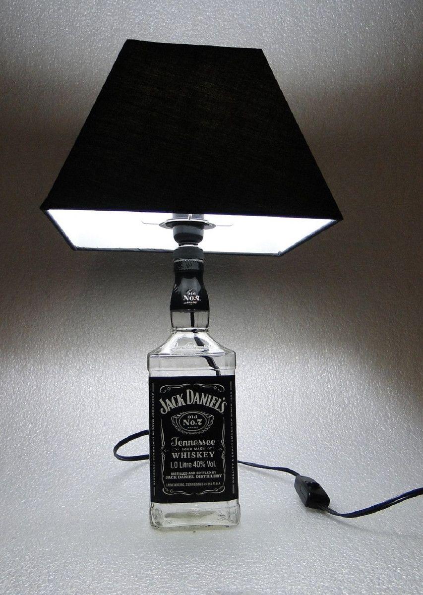 pinterest lustre com garrafa de usque jack