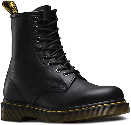 Dr. Martens 1460 8 Eye Boot Ankle Boots in Black Smooth