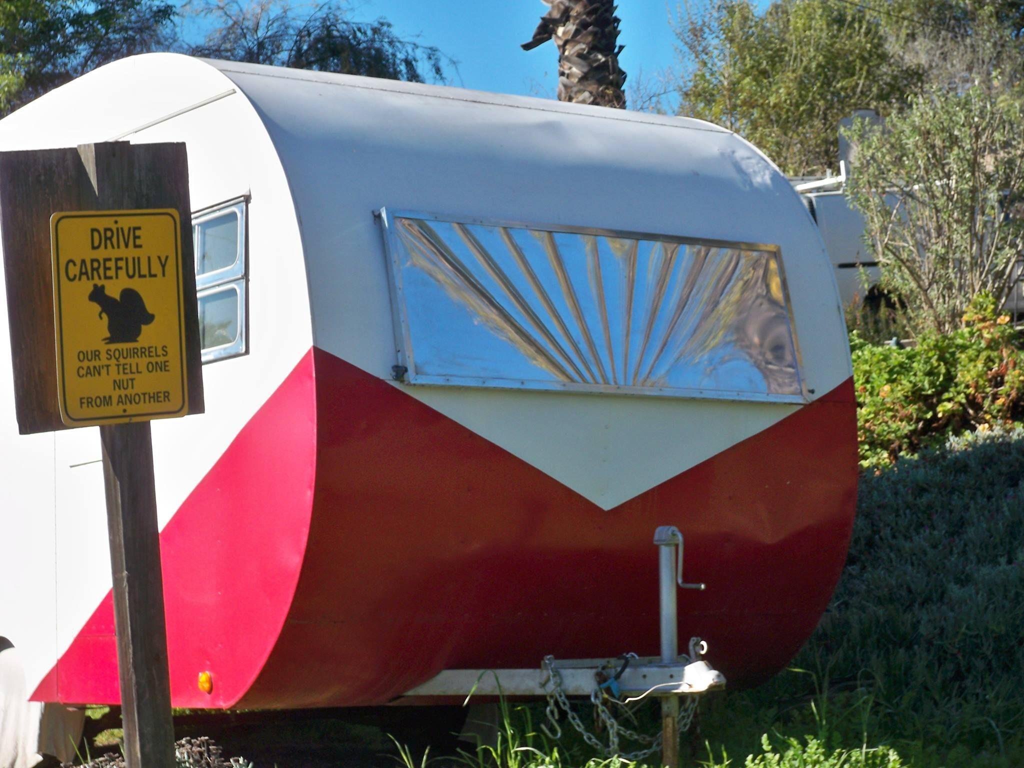 Cool idea for a rock guard vintage trailer remodel rock