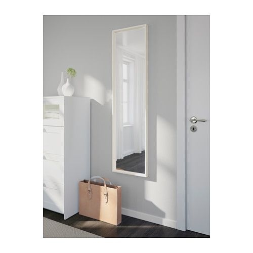 nissedal mirror white 40x150 cm bedrooms room and basements