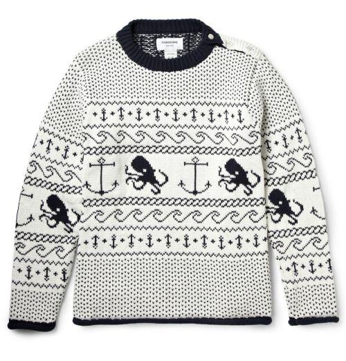 http://chicerman.com beyondfabric: Thom Browne Fair Isle Sweater ...