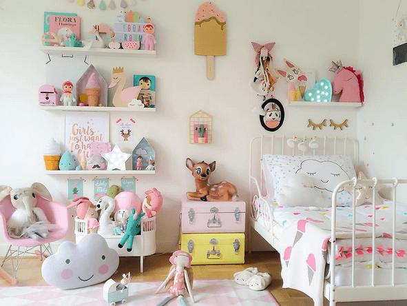 Habitaci n en colores pastel para ni a no te la pierdas for Decoracion para bebe nina