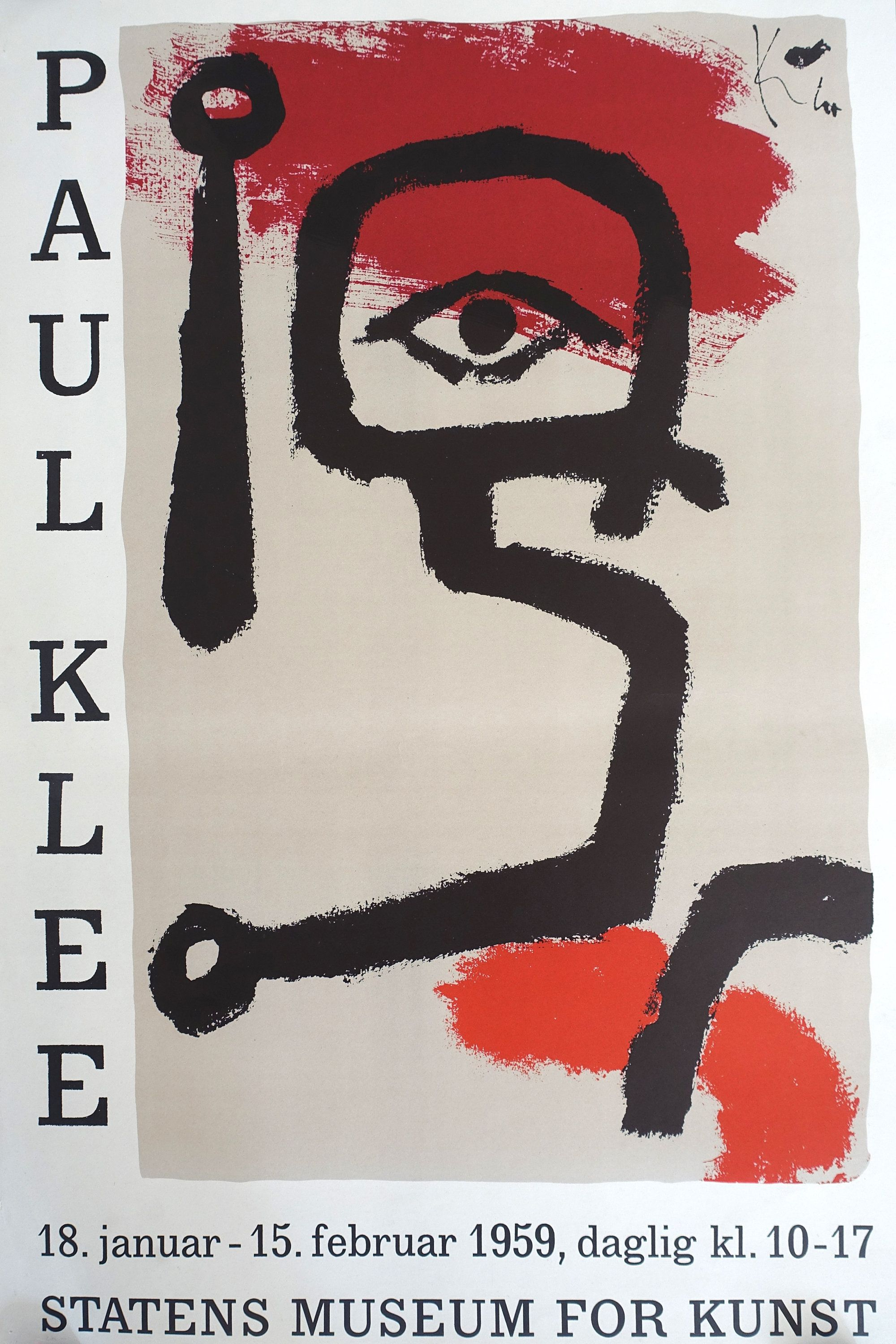 1959 Paul Klee Exhibition Poster From Statens Museum For Kunst Original Vintage Poster Exhibition Poster Vintage Posters Museum Poster