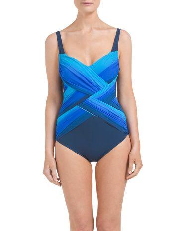 Harmony+Ombre+One-Piece+Swimsuit