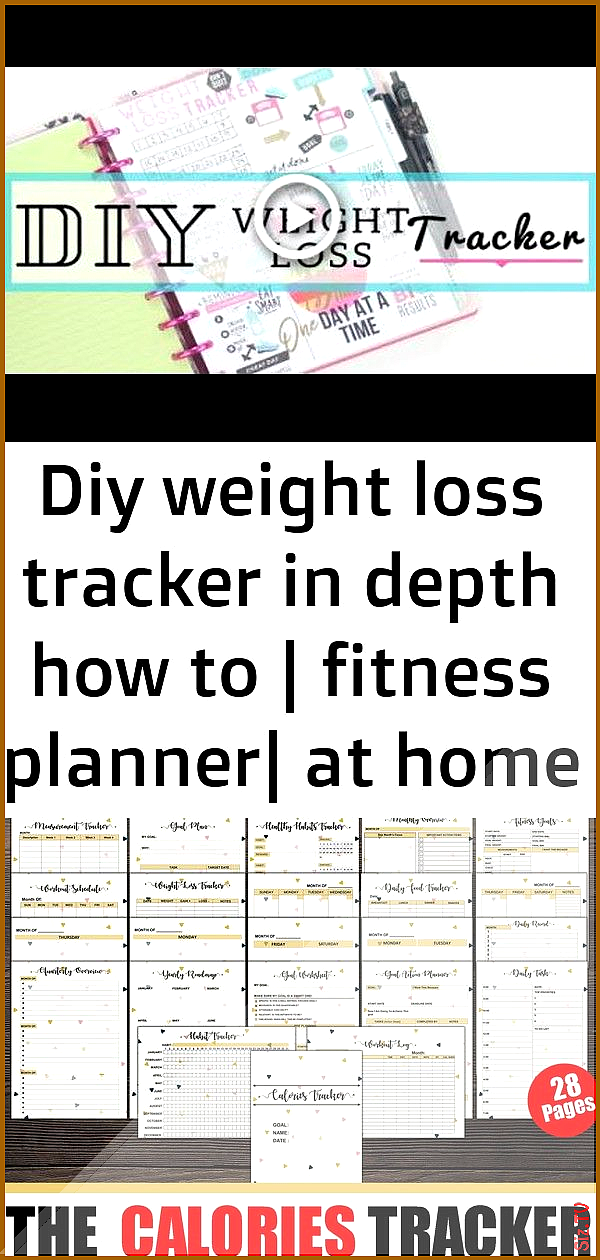 Diy weight loss tracker in depth how to  fitness planner at home with quita 1 Diy weight loss tracke...