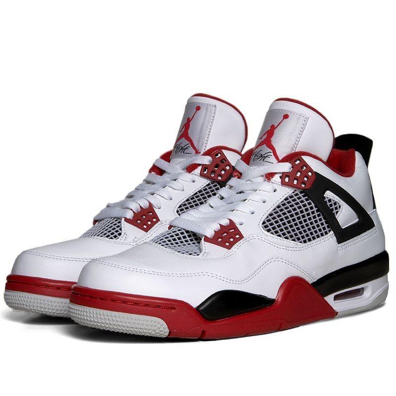 Nike Air Jordan IV Retro (White, Varsity Red & Black)
