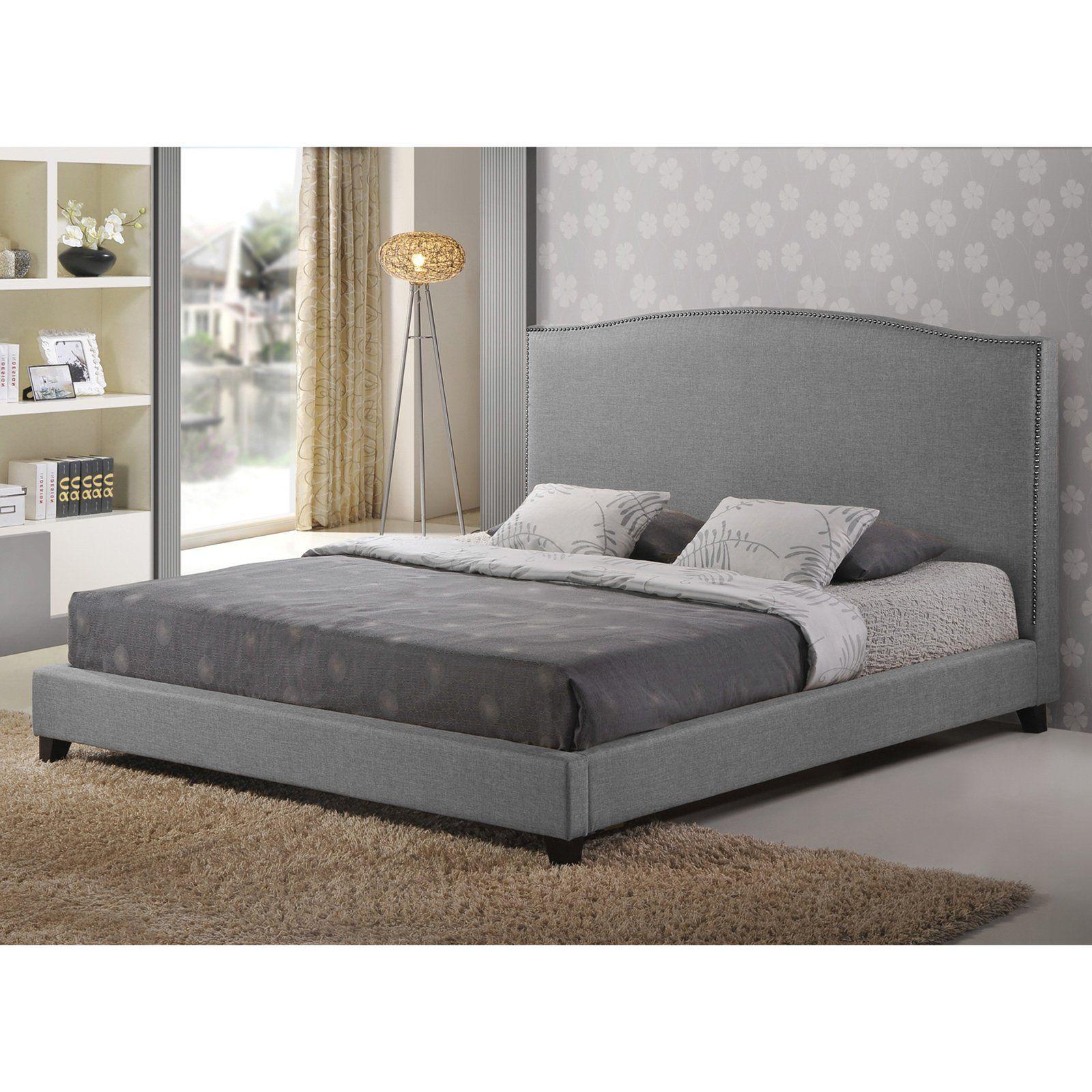 Baxton studio aisling upholstered platform bed grey bbt