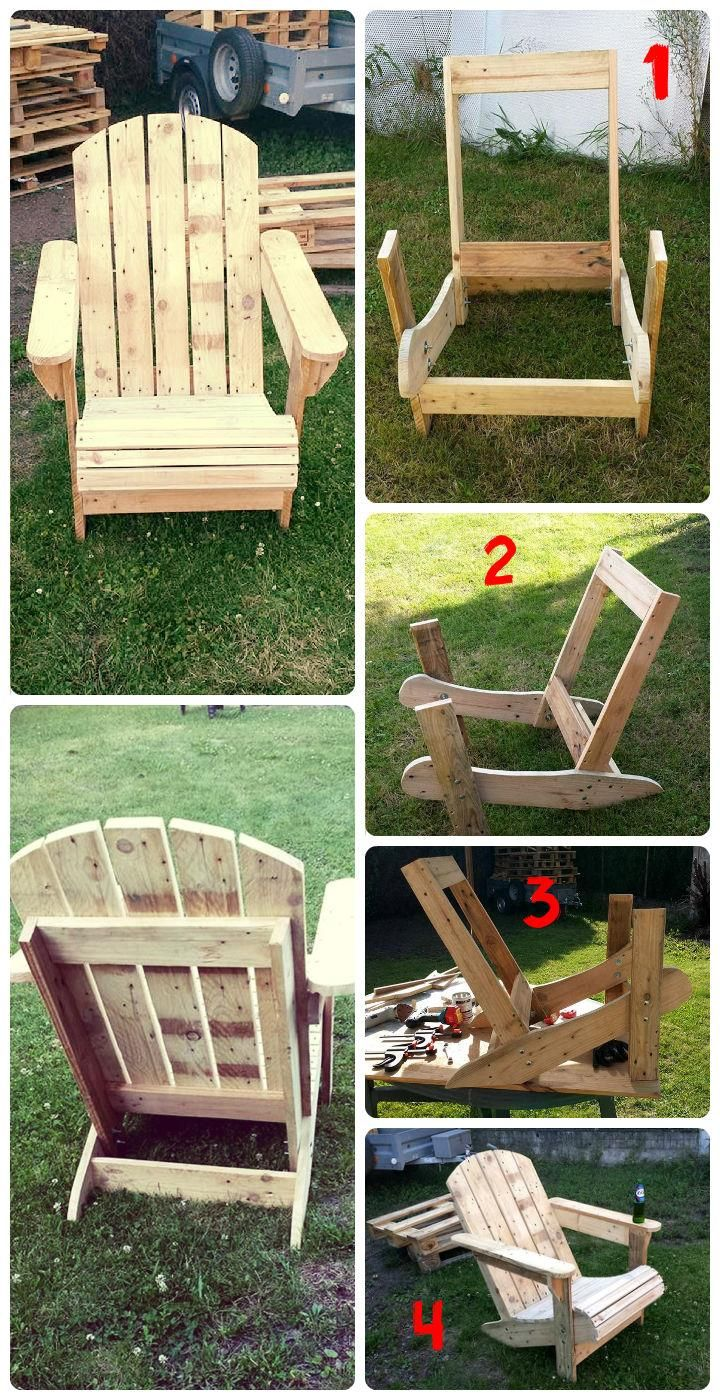 How To Build A Pallet Adirondack Chair 101 Pallet Ideas Step By Step Instructions From Palle Pallet Furniture Outdoor Diy Patio Furniture Patio Chairs Diy