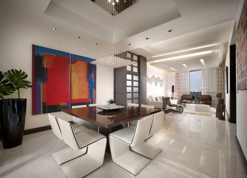 Wohnzimmer Wohnideen - weiße Marmorfliesen als Bodenbelag Wohnraum