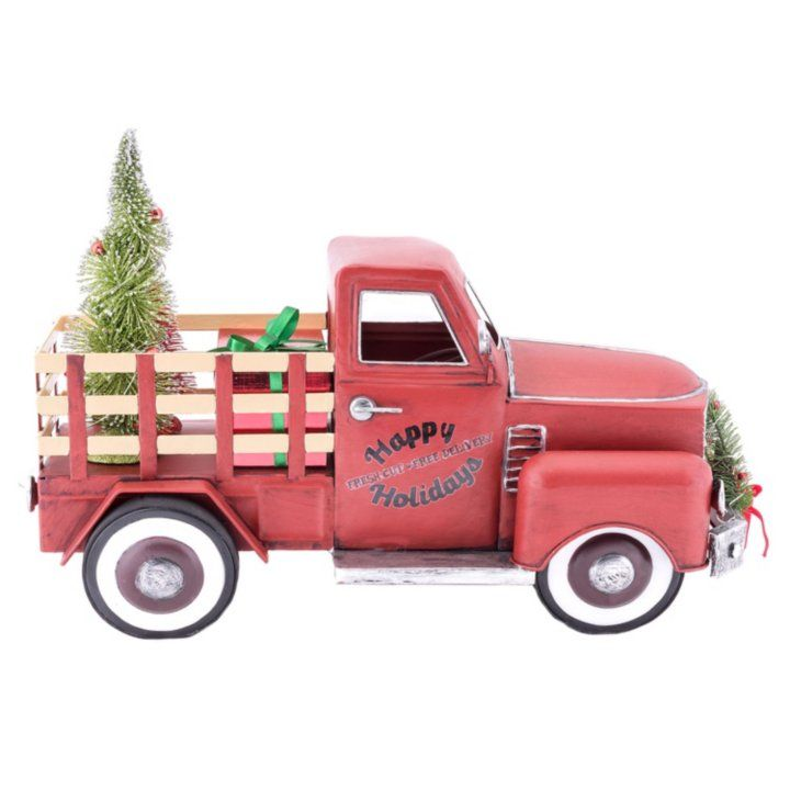 Sams Christmas Trees: Member's Mark Vintage Metal Truck With Lighted Accents