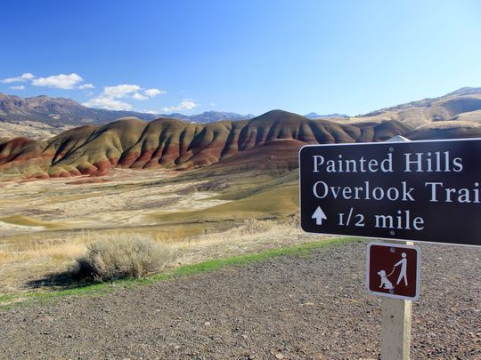Hiking the Painted Hills 5 trails