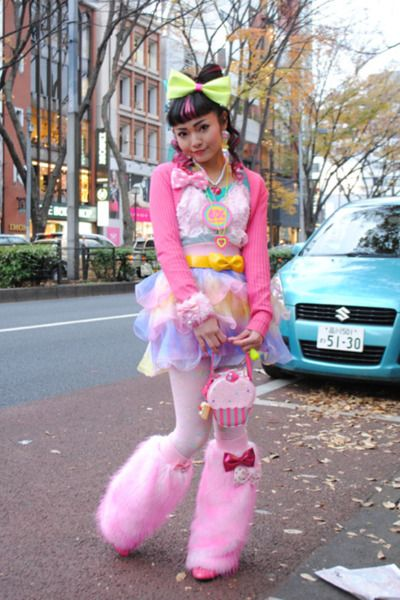 Japanese street fashion: basically let a 5 year old pick out everything they like at a Salvation Army and put it on.