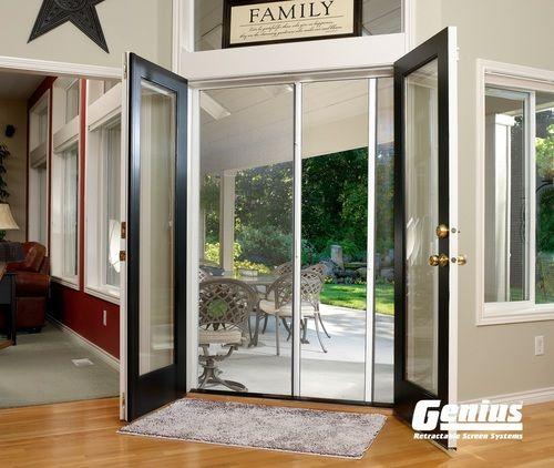 Genius French Retractable Screen Door Sliding Screen Doors Retractable Screen Door Patio Screen Door