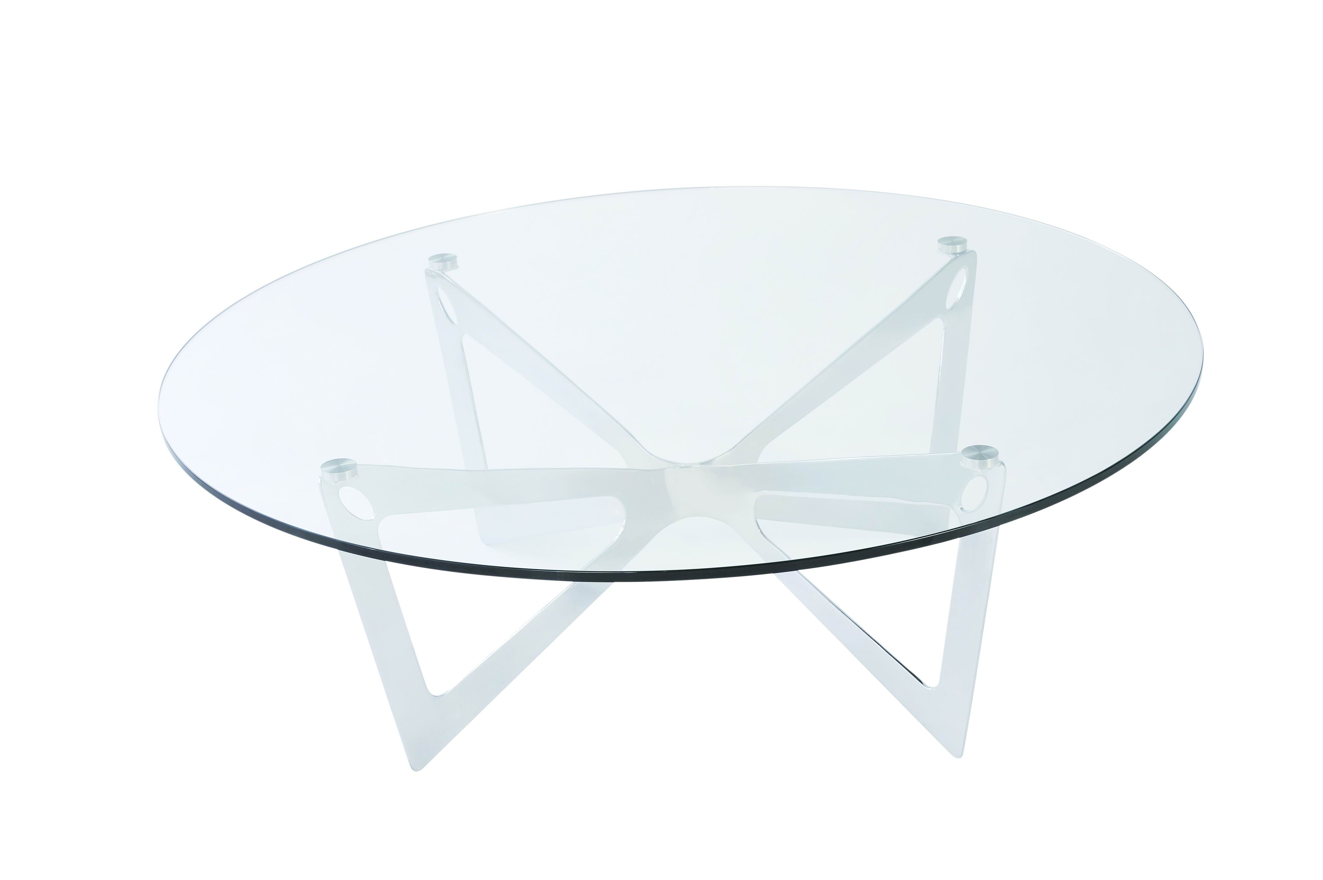 glass side table with white legs http cielobautista com