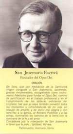 Opus Dei Oraciones Y Devociones San Josemaria San Josemaria Escriva Catholic Prayers