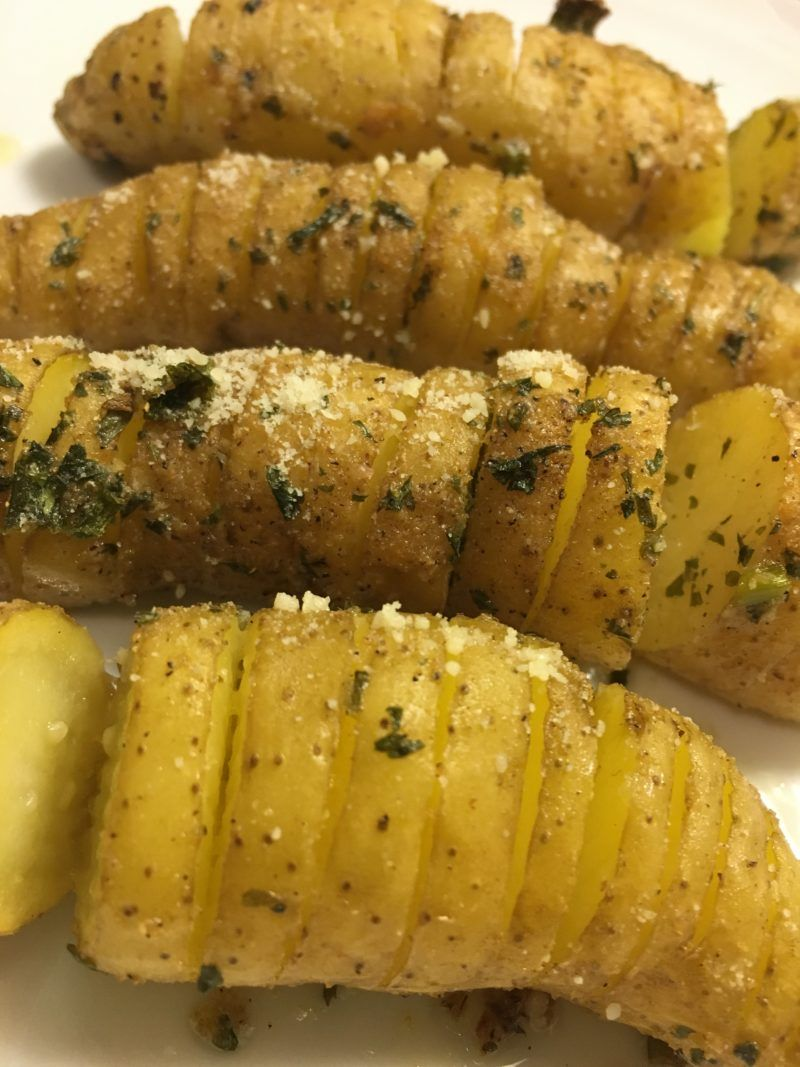 Finger Licking Good Garlic Parmesan Fingerling Potatoes – Not Your Average Tenille