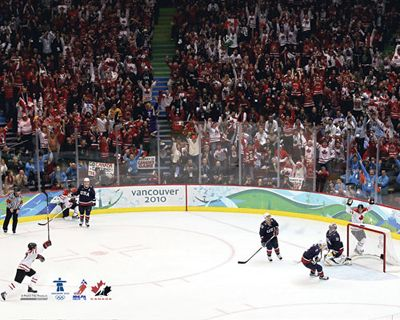 Team Canada Hockey Vancouver 2010 Olympics GOLDEN GOAL Premium Poster Print - available at www.sportsposterwarehouse.com