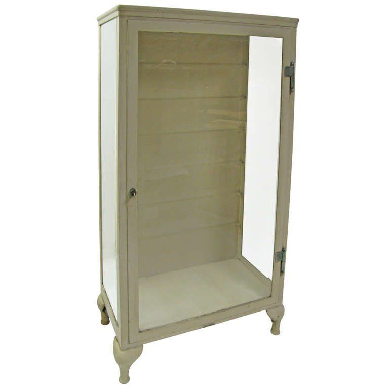 1stdibs Vitrine Cast Doctors Medical Storage Cabinet