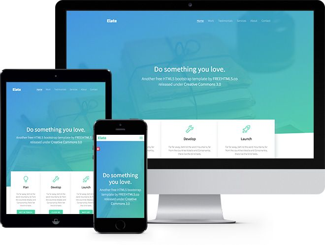 Elate Free Html5 Bootstrap Template Free Responsive Html5 Template Free Website Templates Html5 Templates Bootstrap Template