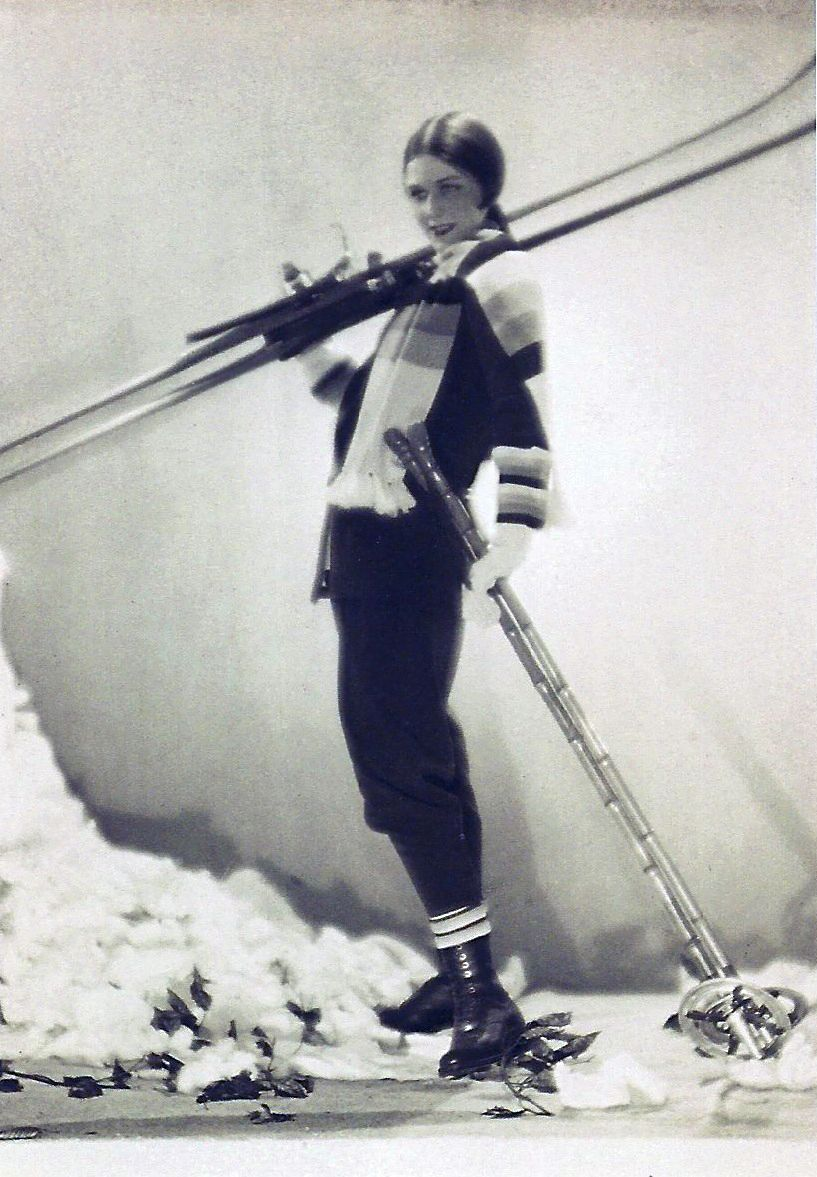 Ski Outfit By The Couturier Lucien Lelong Photographed By Egidio Scaioni In 1927. | Vintage Ski ...