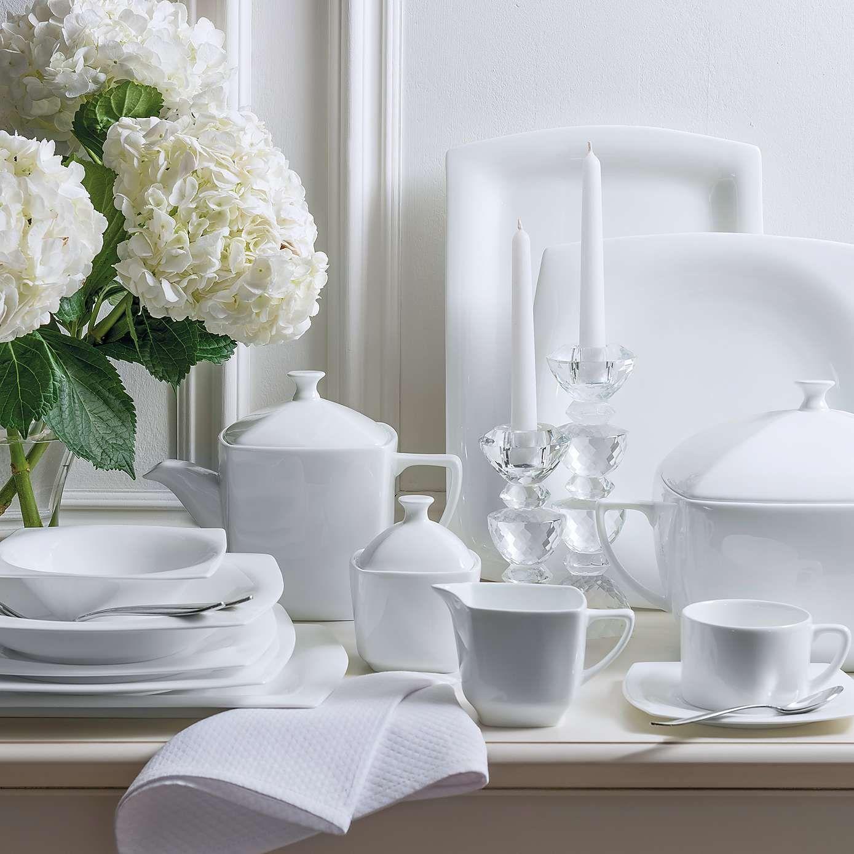 Dorma Cambridge White 12 Piece Dinner Set | White soup, Dinner sets ...