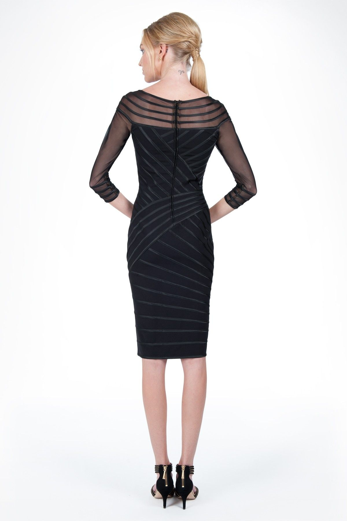 Sheer Illusion Cocktail Dress In Black Holiday Dress Guide Tadashi Shoji Black Holiday Dress Dresses Cocktail Dress [ 1800 x 1200 Pixel ]