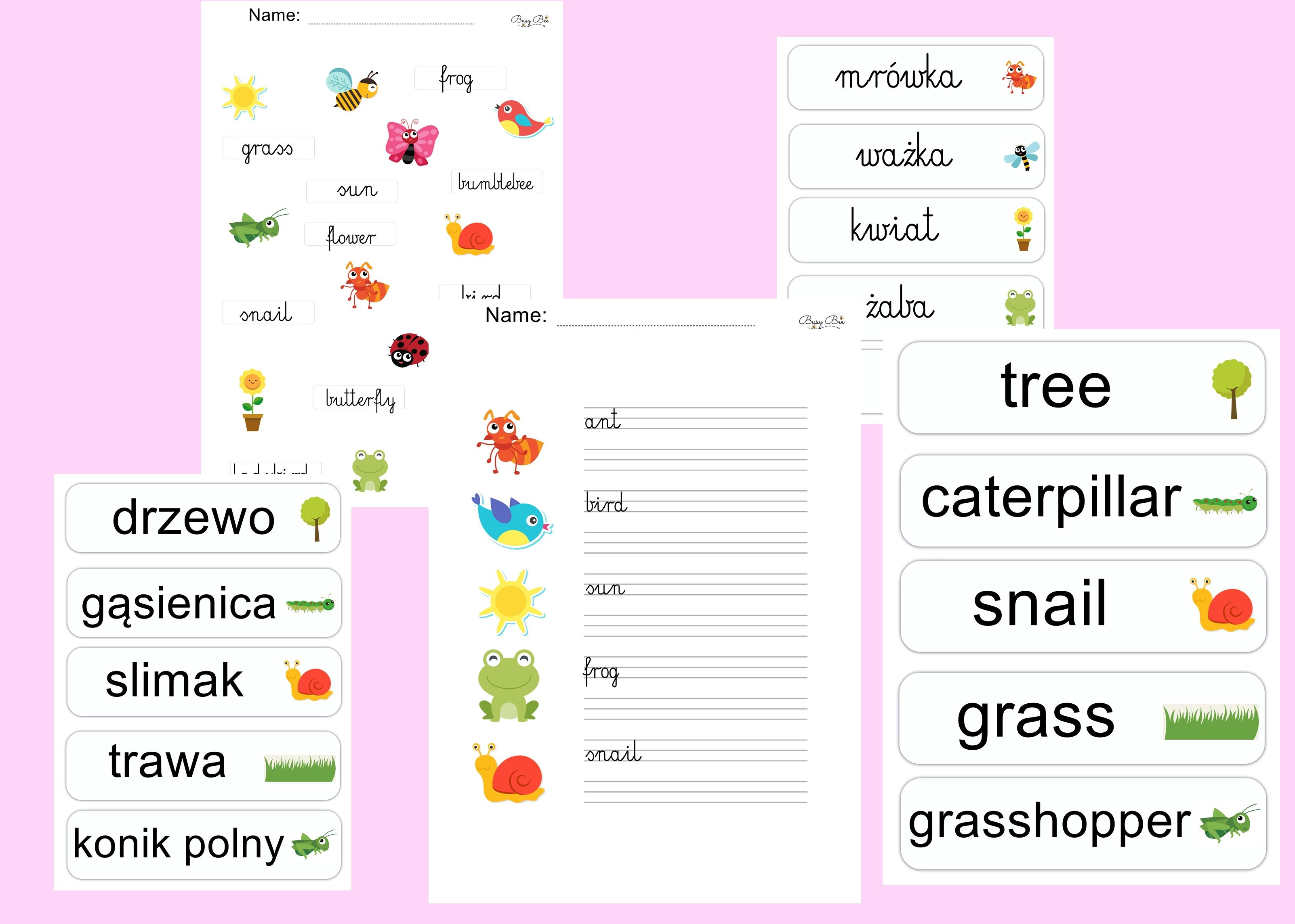 Spring Matching Worksheet For Kids