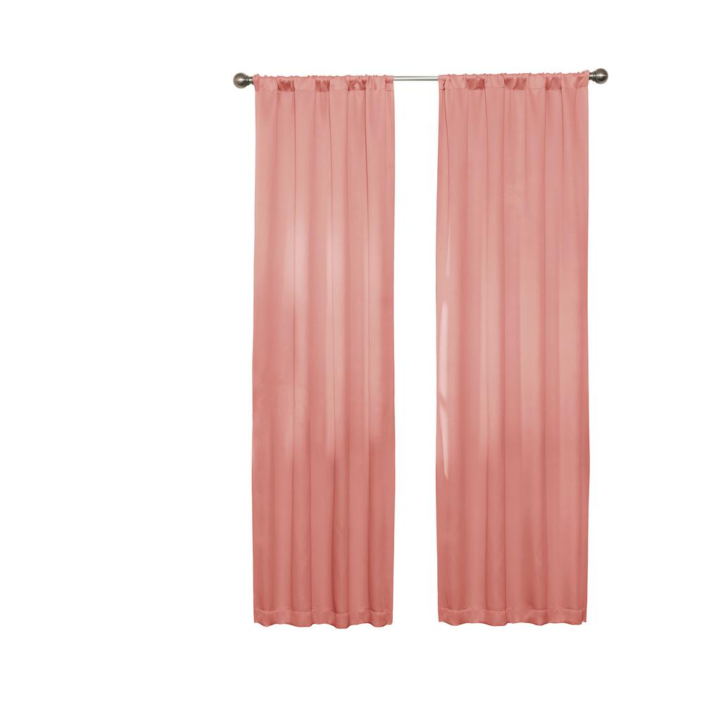 Darrell Blackout Window Curtain Panel In Coral 37 In W X 63 In