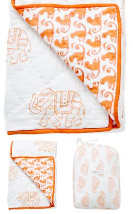 514b3bb2e5 Taj Baby Blanket  Made in India of 100% cotton voile. Also available in  blue